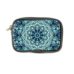 Green Blue Black Mandala  Psychedelic Pattern Coin Purse
