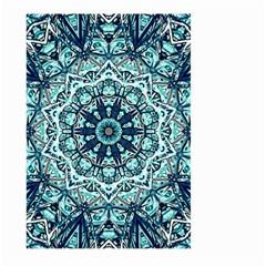 Green Blue Black Mandala  Psychedelic Pattern Large Garden Flag (two Sides)