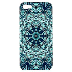 Green Blue Black Mandala  Psychedelic Pattern Apple Iphone 5 Hardshell Case