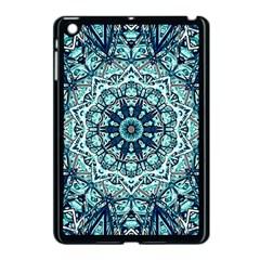 Green Blue Black Mandala  Psychedelic Pattern Apple Ipad Mini Case (black)