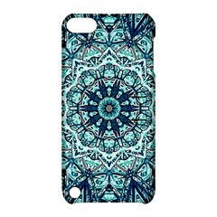 Green Blue Black Mandala  Psychedelic Pattern Apple Ipod Touch 5 Hardshell Case With Stand