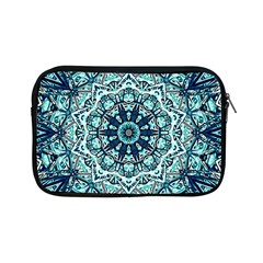 Green Blue Black Mandala  Psychedelic Pattern Apple Ipad Mini Zipper Cases