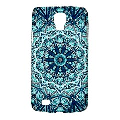 Green Blue Black Mandala  Psychedelic Pattern Galaxy S4 Active