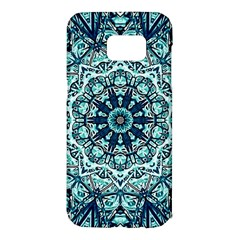 Green Blue Black Mandala  Psychedelic Pattern Samsung Galaxy S7 Edge Hardshell Case