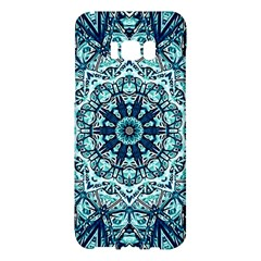 Green Blue Black Mandala  Psychedelic Pattern Samsung Galaxy S8 Plus Hardshell Case