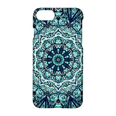 Green Blue Black Mandala  Psychedelic Pattern Apple Iphone 8 Hardshell Case