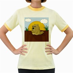 Groundhog Day Women s Fitted Ringer T Shirts