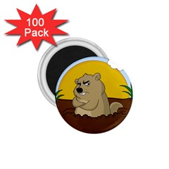 Groundhog Day 1 75  Magnets (100 Pack)