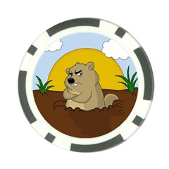 Groundhog Day Poker Chip Card Guard