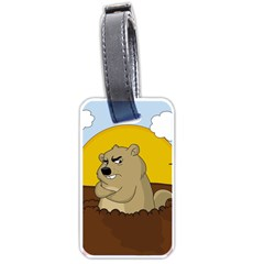 Groundhog Day Luggage Tags (one Side)