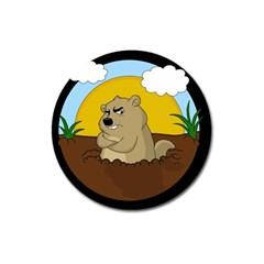 Groundhog Day Magnet 3  (round)