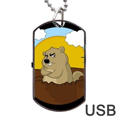 Groundhog Day Dog Tag Usb Flash (two Sides)