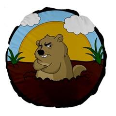 Groundhog Day Large 18  Premium Round Cushions