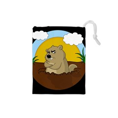 Groundhog Day Drawstring Pouches (small)