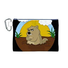 Groundhog Day Canvas Cosmetic Bag (m)