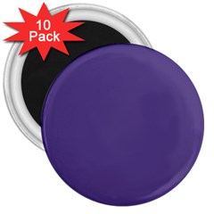 Color Of The Year 2018   Ultraviolet   Pure&basic 3  Magnets (10 Pack)