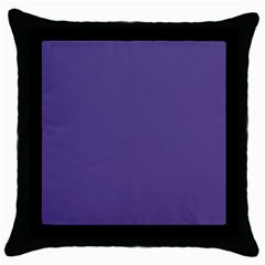 Color Of The Year 2018   Ultraviolet   Pure&basic Throw Pillow Case (black)