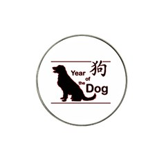 Year Of The Dog   Chinese New Year Hat Clip Ball Marker (10 Pack)
