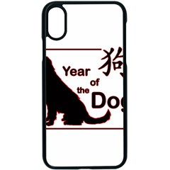 Year Of The Dog   Chinese New Year Apple Iphone X Seamless Case (black)