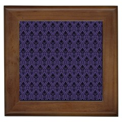 Color Of The Year 2018   Ultraviolet   Art Deco Black Edition Framed Tiles