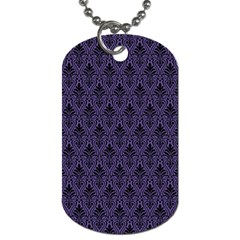 Color Of The Year 2018   Ultraviolet   Art Deco Black Edition Dog Tag (two Sides)