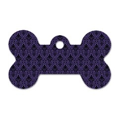 Color Of The Year 2018   Ultraviolet   Art Deco Black Edition Dog Tag Bone (two Sides)