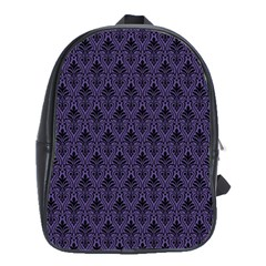 Color Of The Year 2018   Ultraviolet   Art Deco Black Edition School Bag (large)