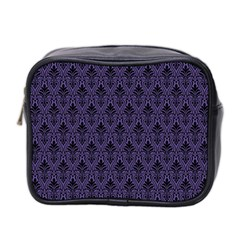 Color Of The Year 2018   Ultraviolet   Art Deco Black Edition Mini Toiletries Bag 2 Side
