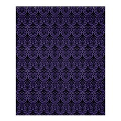 Color Of The Year 2018   Ultraviolet   Art Deco Black Edition Shower Curtain 60  X 72  (medium)