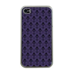 Color Of The Year 2018   Ultraviolet   Art Deco Black Edition Apple Iphone 4 Case (clear)