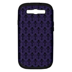 Color Of The Year 2018   Ultraviolet   Art Deco Black Edition Samsung Galaxy S Iii Hardshell Case (pc+silicone)