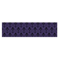 Color Of The Year 2018   Ultraviolet   Art Deco Black Edition Satin Scarf (oblong)