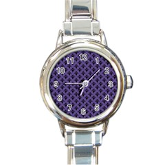 Color Of The Year 2018   Ultraviolet   Art Deco Black Edition  Round Italian Charm Watch