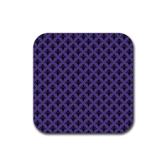 Color Of The Year 2018   Ultraviolet   Art Deco Black Edition  Rubber Square Coaster (4 Pack)
