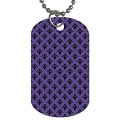 Color Of The Year 2018   Ultraviolet   Art Deco Black Edition  Dog Tag (one Side)