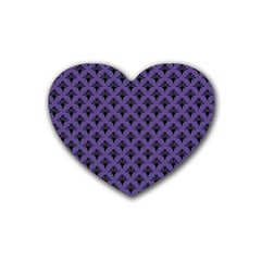 Color Of The Year 2018   Ultraviolet   Art Deco Black Edition  Heart Coaster (4 Pack)