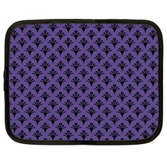 Color Of The Year 2018   Ultraviolet   Art Deco Black Edition  Netbook Case (xl)