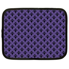 Color Of The Year 2018   Ultraviolet   Art Deco Black Edition  Netbook Case (xxl)