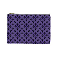 Color Of The Year 2018   Ultraviolet   Art Deco Black Edition  Cosmetic Bag (large)