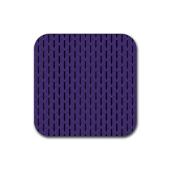 Color Of The Year 2018   Ultraviolet   Art Deco Black Edition Rubber Coaster (square)