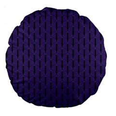 Color Of The Year 2018   Ultraviolet   Art Deco Black Edition Large 18  Premium Round Cushions