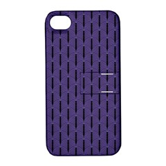 Color Of The Year 2018   Ultraviolet   Art Deco Black Edition Apple Iphone 4/4s Hardshell Case With Stand
