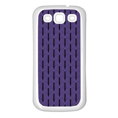 Color Of The Year 2018   Ultraviolet   Art Deco Black Edition Samsung Galaxy S3 Back Case (white)