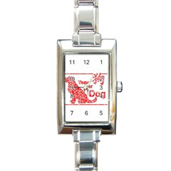 Year Of The Dog   Chinese New Year Rectangle Italian Charm Watch