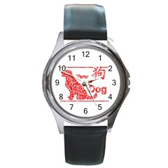Year Of The Dog   Chinese New Year Round Metal Watch
