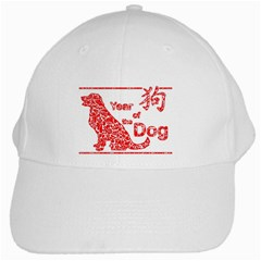 Year Of The Dog   Chinese New Year White Cap