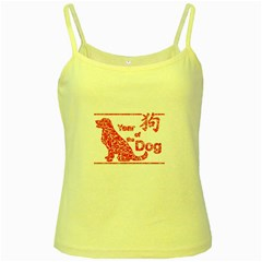 Year Of The Dog   Chinese New Year Yellow Spaghetti Tank