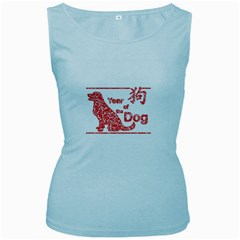 Year Of The Dog   Chinese New Year Women s Baby Blue Tank Top