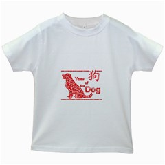 Year Of The Dog   Chinese New Year Kids White T Shirts
