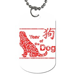 Year Of The Dog   Chinese New Year Dog Tag (two Sides)
